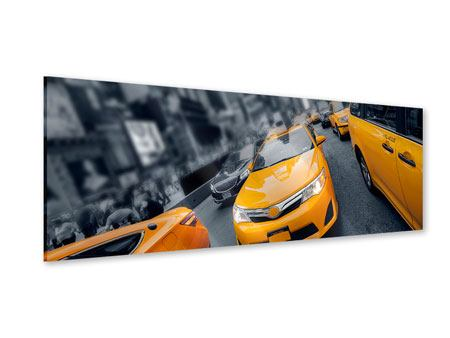 Acrylglasbild Panorama Taxi in NYC