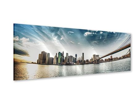 Acrylglasbild Panorama Brooklyn Bridge From The Other Side