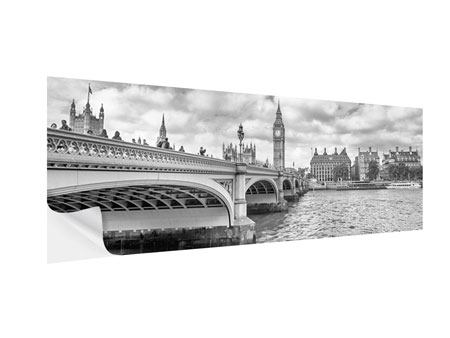 Klebeposter Panorama Westminster Bridge