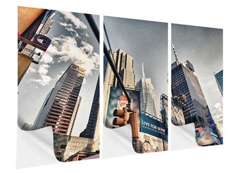 Klebeposter 3-teilig Times Square