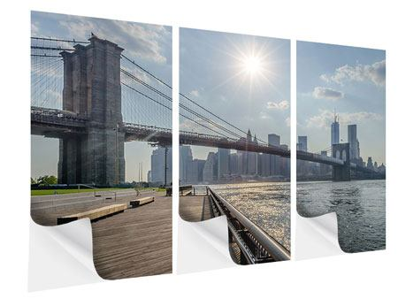 Klebeposter 3-teilig Brooklyn Bridge