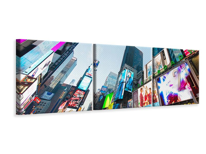 Panorama Leinwandbild 3-teilig Shopping in NYC