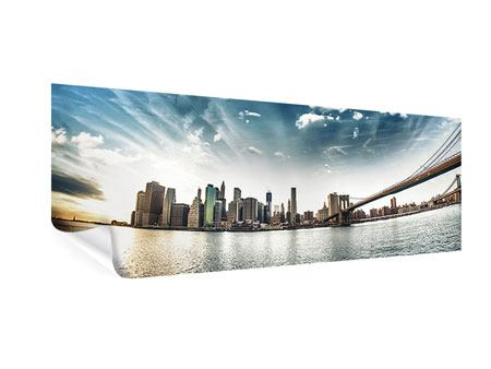 Poster Panorama Brooklyn Bridge From The Other Side